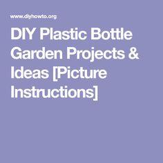 DIY Plastic Bottle Garden Projects & Ideas [Picture Instructions]