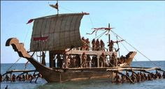 Ancient Philippine (Karakowa) warship. Philippine Architecture, Fleet Of Ships, Temple In Jerusalem, Philippines Culture, Wooden Ship, Pinoy, Building Design, Sailing Ships, Martial Arts