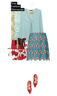 """cancer girl"" by fanfan-zheng on Polyvore featuring MANGO, Marco de Vincenzo, Loeffler Randall, Gucci, fashionhoroscope and stylehoroscope"