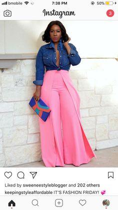 I'm getting spring fever 🤒 Hai Ethnic Fashion, Curvy Fashion, Plus Size Fashion, Women's Fashion, Fashion Ideas, Fashion Inspiration, Hair Unit, Pink Wardrobe, Blue Shirt With Jeans