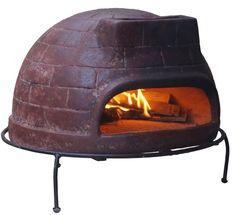 Pizzaofen Premium Venedig von Sol-y-Yo® - Steinbackofen aus Terrakotta 52 cm