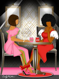 *Please view slideshow* Artwork available in coasters, canvas and matted. Aka Sorority, Sorority Life, Sorority And Fraternity, Alpha Kappa Alpha Sorority, Delta Sigma Theta, Sorority Pictures, Divine Nine, Delta Girl, Black Aesthetic Wallpaper