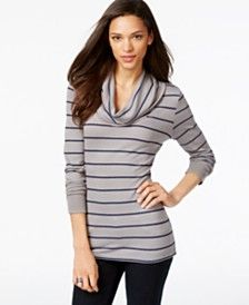 Tommy Hilfiger Striped Cowl-Neck Top