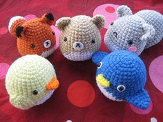 ♥ These cutie critters are simple to make - with this 1 pattern covering how to make a squirrel, fox, baby chick, penguin and hamster. The pattern also includes 7 variations!