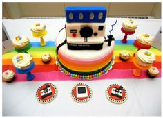 Hostess with the Mostess® - Preston's Polaroid Party - a quite incredible cake!