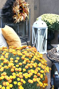 Decorated Fall Porch