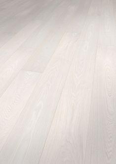 1182193 Solidfloor Parkett Esche Veneto Landhausdiele mill run gebürstet gefast weiss matt lackiert