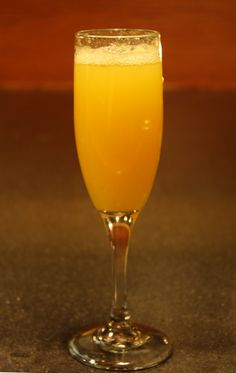 The Man-Mosa: 1.5 ounces Fireball Whiskey, 3 ounces Champagne, & a splash of Orange Juice. Combine chilled ingredients & enjoy!