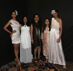 Namrata Shetty, Divya Jaitly, Aparna Garg, Fakhera Jadliwala and Surabhi Rao at SNDT-AMD's Chrysalis fashion show