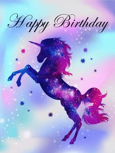 49 Ideas Funny Happy Birthday Unicorn For 2019 Purple Happy Birthday, Mermaid Happy Birthday, Happy Birthday Wallpaper, Happy Birthday Images, Happy Birthday Cards, Birthday Greetings, Card Birthday, Birthday Ideas, Birthday Wishes Messages