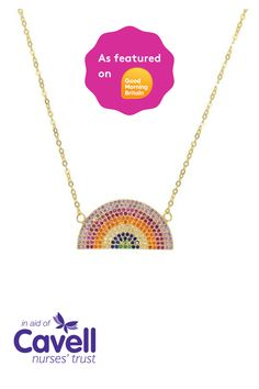from the sale of every one of these beautiful necklaces by Nancy and Nora goes to support Cavell Nurses' Trust and nursing professionals currently on the frontline. Good Morning Britain, Nurses, Beautiful Necklaces, Charity, Trust, Rainbow, Rain Bow, Rainbows, Being A Nurse