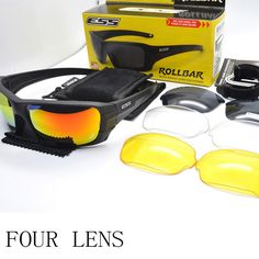 02ad6eb8697 ESS ROLLBAR Glasses Polarized Sunglasses Military Eyewear Interchangeable  Lens