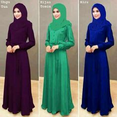 Long dress with scarf. Latest from hijabdiari Checkout instagram and fb