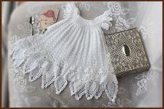 Celestial Christening Gown Crochet Pattern Sizes door CrochetGarden