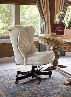 The perfect place to sit and accomplish your most important tasks, the Andover Executive Office Chair offers plush comfort and impressive style to your home office.