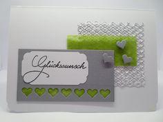 Hochzeit Geburtstag Karte Glückwunsch silber grün von Miss Tüti auf DaWanda.com