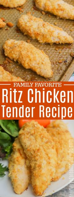 I love this recipe. Its so easy to make and my entire family loved it. Oven Fried Chicken Tenders, Baked Fried Chicken, Oven Chicken, Recipes With Chicken Tenders, Chicken Tenderloins In Oven, Easy Chicken Tenderloin Recipes, Best Chicken Tenders, Pork Tenderloins, Chicken Gravy