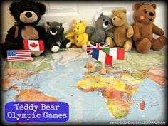 TEDDY BEAR OLYMPICS: Part 1 Sun Hats & Wellie Boots: Teddy Bear Olympics Part 1 (Maps & Flags)