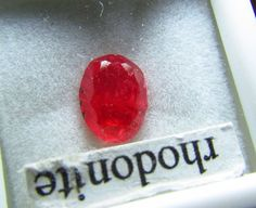 1.96 ct OVAL RARE Cherry Top RED NATURAL Brazil RHODONITE Gemstone 8.5 x 6mm  #JewelsRoughGems
