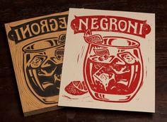 Negroni   Block Print by strawcastle on Etsy, $9.99