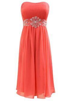 Amazon.com: Fiesta Formals Short Chiffon Formal Evening Gown Bridesmaids Prom Dress: Clothing