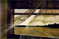 """Andrew Wyeth """"Wind From The Sea"""" saw this at an art exhibit.  So awesome!"""