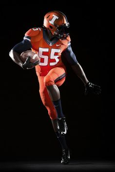 490d0c479 2014 University of Illinois football uniform -- orange alternate