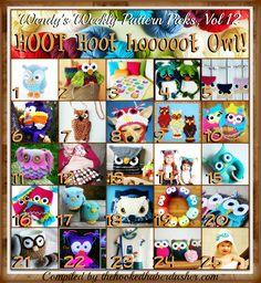 Wendy's Weekly Pattern Picks, Vol 12 – hoot Hoot HOOT OWLS! | The Hooked Haberdasher