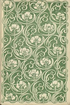 Flower Endpaper diagonal repeat