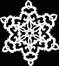 Paper snowflake - Victorian