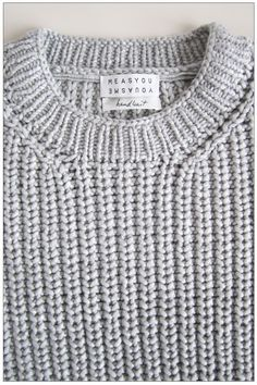 MEASYOU YOUASME | Big roundneck pullover in handknit pearl stitch. Loose square fit, rib trimming at neckline and cuffs.
