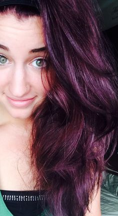 ... babyy on Pinterest | Burgundy plum hair, Plum hair and Purple hair