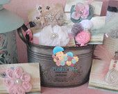 Baby Girl Gift Basket Set, Baby Shower Gift, The Ideal Perfect Gift. via Etsy.