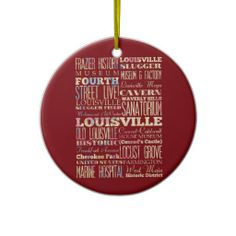 Famous Places of Nashville Tennessee Christmas Tree Ornaments