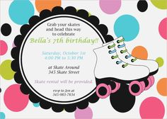 Roller Skate Party Invitations Free Printable Free Printable