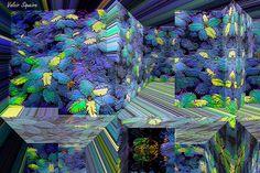 https://flic.kr/p/vQ8boo | Espaço tridimensional com folhas