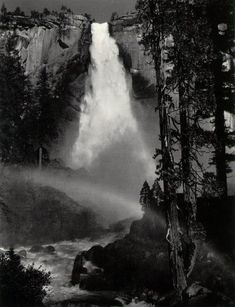 Ansel Adams  Nevada Fall, Rainbow,  Yosemite Valley  c. 1947    ©The Trustees of the  Ansel Adams Publishing Rights Trust