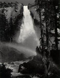 Ansel Adams  Nevada Fall, Rainbow,  Yosemite Valley  c. 1947    ©The Trustees of the  Ansel Adams Publishing Rights Trust