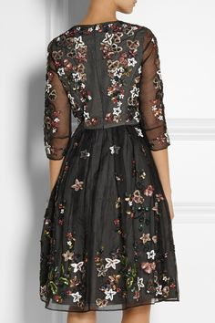 Needle & Thread Orchard sequin-embellished silk-organza dress NET-A-PORTER.COM