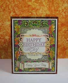 JustRite Papercraft Floral Harvest Background Stamp