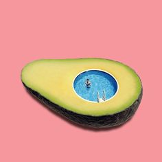 life goal: swim in an avocado - Creative图形创意 - Avacado Inspiration Art, Art Inspo, Photomontage, Digital Collage, Collage Art, Pop Art, Illustration Art, Illustrations, Montage Photo