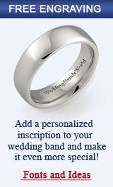 """Wedding Bands Free Engraving. I would love to have our future rings say """"Grow old with me"""" with our wedding date"""