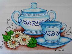 Conjunto de Porcelana azul, pintura