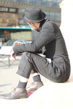 #streetstyle #men #paris #black #streetview #street #style #hat #paul