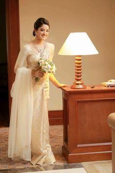66 ideas christian bridal saree white blouse designs for 2020 Christian Wedding Sarees, Christian Bride, Wedding Sari, Kerala Wedding Saree, Kerala Saree, Wedding Bells, Wedding Gowns, Bridesmaid Saree, Wedding Bridesmaid Dresses