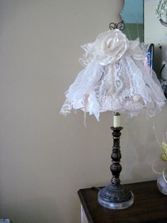 Wire Lampshade Shabby Chic Home Decor Treasury Item. $34.00, via Etsy.