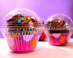Single Clear Cupcake Box set of 30 Cupcake Display, Cupcake Boxes, Cupcake Holders, Cupcake Container, Cupcake In A Cup, Diy Cupcake, Pretty Box, Baking Supplies, Fun Cupcakes