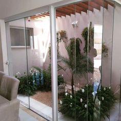 Interior Garden, Home Interior Design, Pool Shower, Modern Villa Design, Simple House Plans, Garden Design, House Design, Modern Architects, Back Gardens