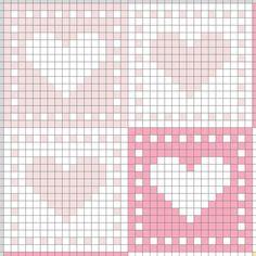 Tapestry Crochet Patterns, Crochet Square Patterns, Crochet Stitches Patterns, Crochet Chart, Crochet Motif, Knitting Patterns, Cross Stitch Designs, Cross Stitch Patterns, Heart Patterns
