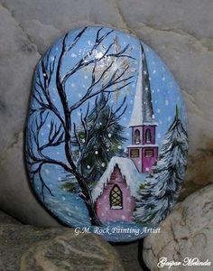 Church Painted Rock